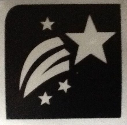 5 x SHOOTING STAR STENCILS
